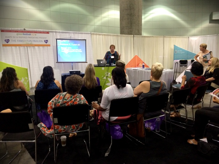 Barbara Bullard's Hemi-Sync presentation at the Los Angeles Green Festival